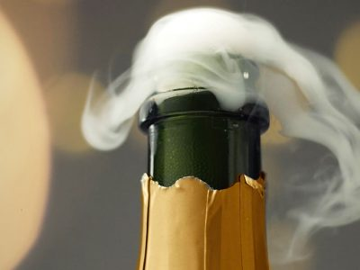 sparkling wine bottle opening